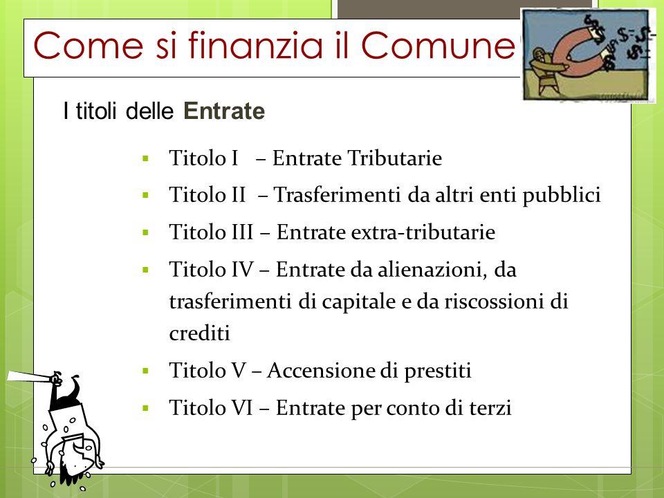 Come si finanzia il Comune
