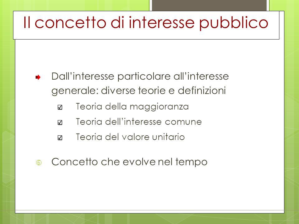 Il concetto di interesse pubblico
