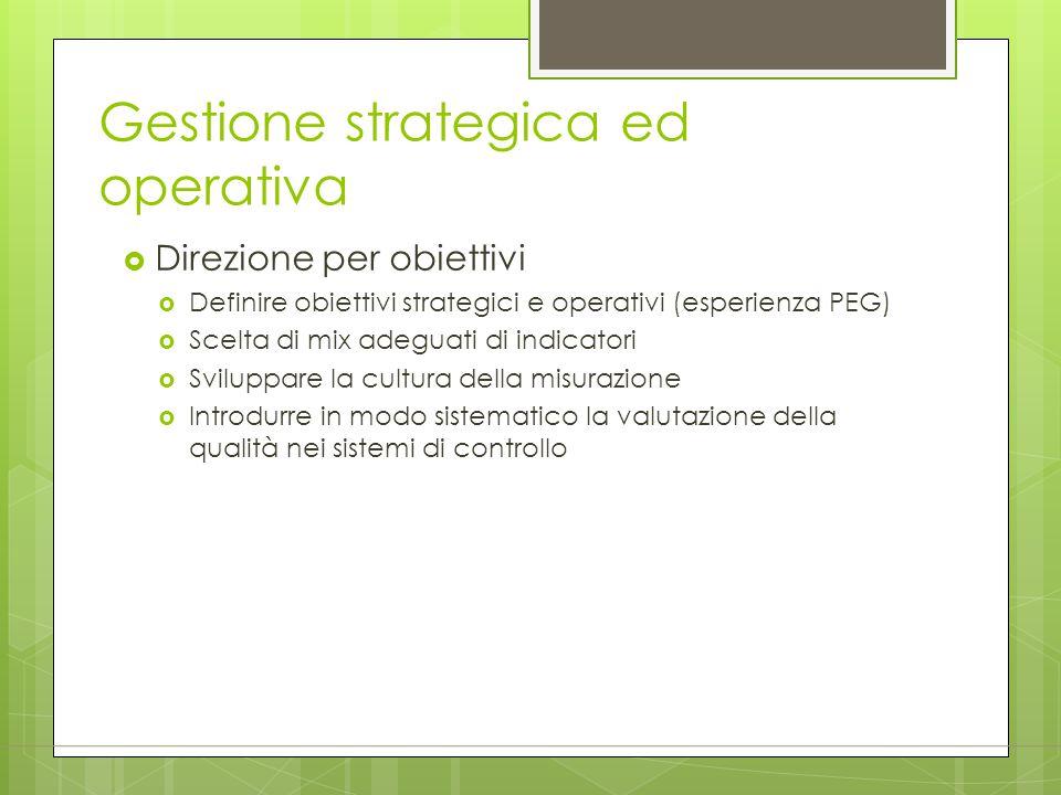 Gestione strategica ed operativa