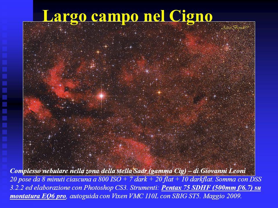 Largo campo nel Cigno Complesso nebulare nella zona della stella Sadr (gamma Cig) – di Giovanni Leoni.
