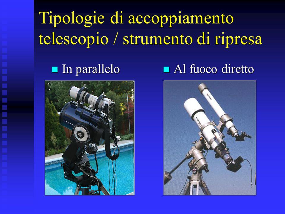 Tipologie di accoppiamento telescopio / strumento di ripresa
