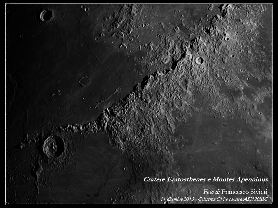 Cratere Eratosthenes e Montes Apenninus