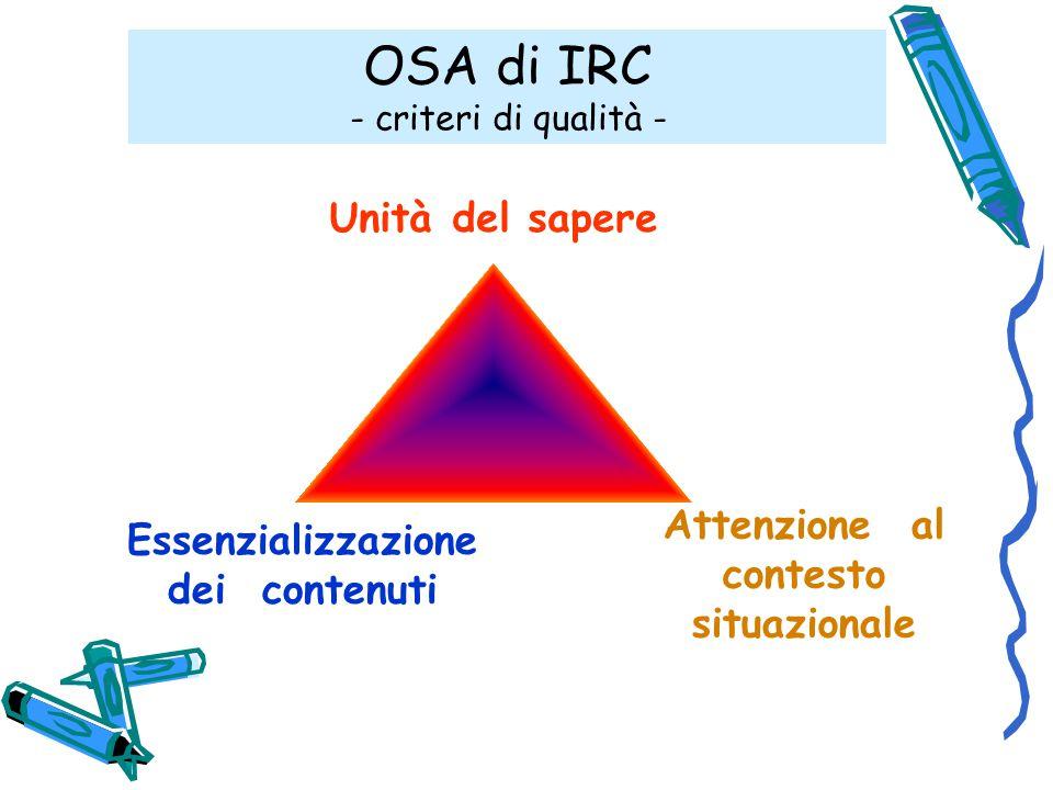 OSA di IRC - criteri di qualità -
