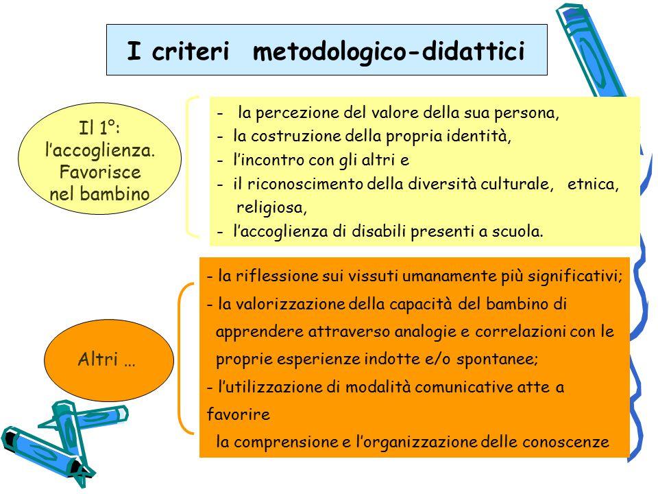 I criteri metodologico-didattici