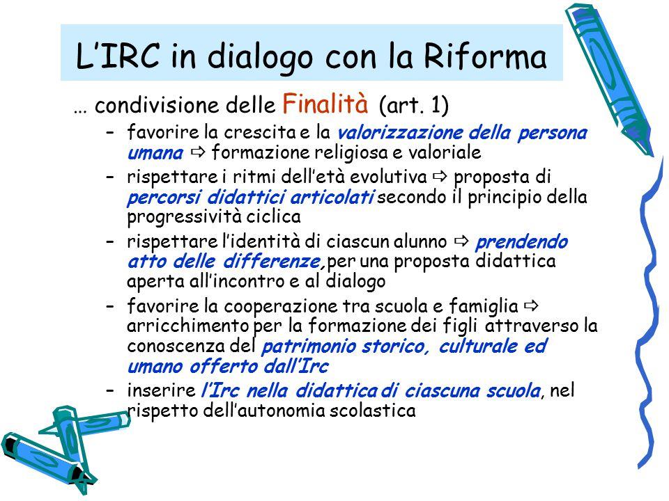 L'IRC in dialogo con la Riforma