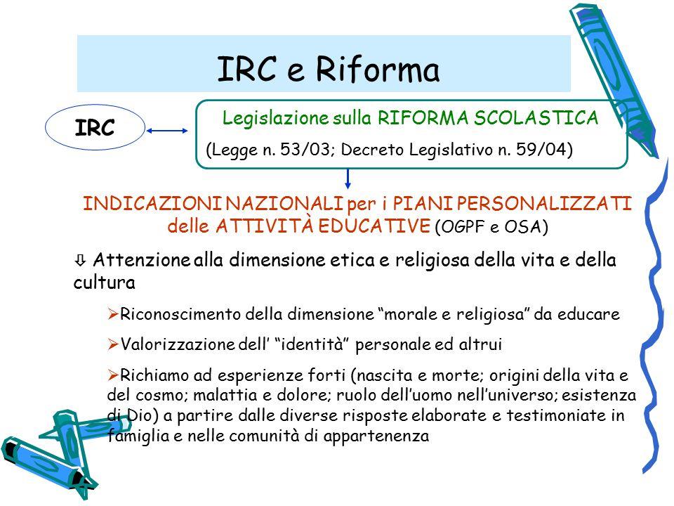 Legislazione sulla RIFORMA SCOLASTICA
