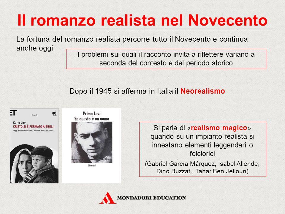 Il romanzo realista nel Novecento