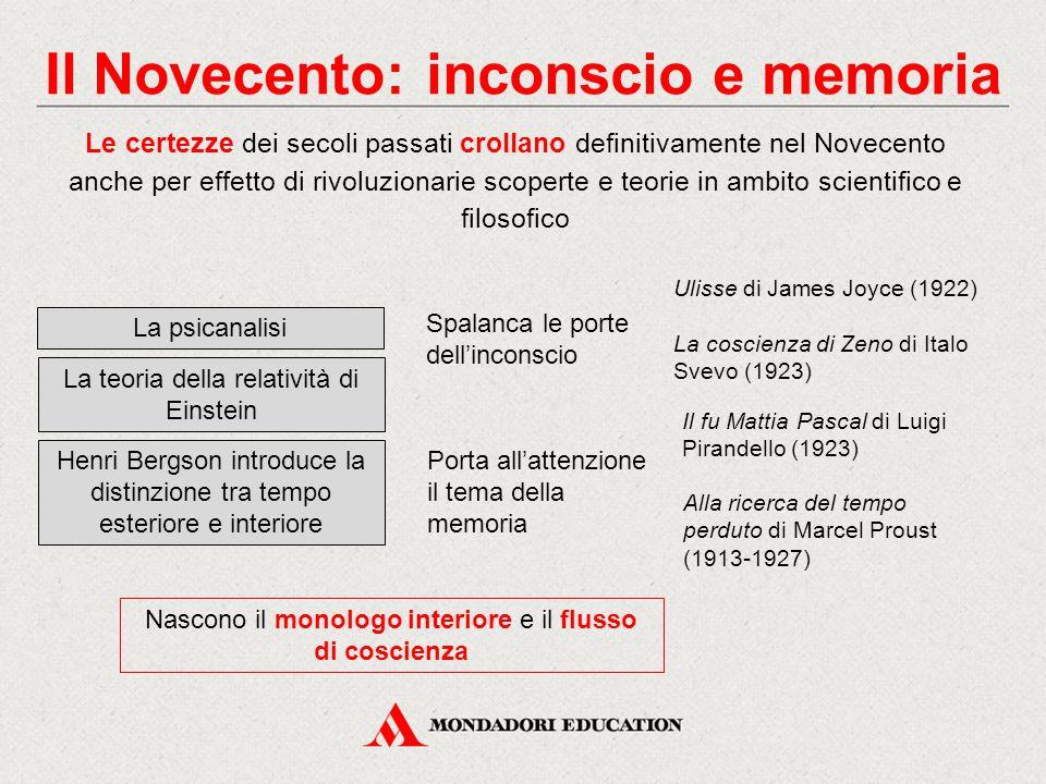 Il Novecento: inconscio e memoria