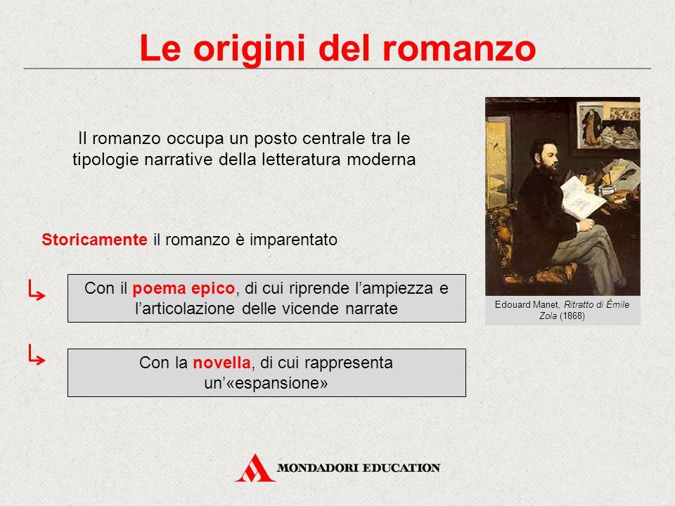 Le origini del romanzo Il romanzo occupa un posto centrale tra le tipologie narrative della letteratura moderna.