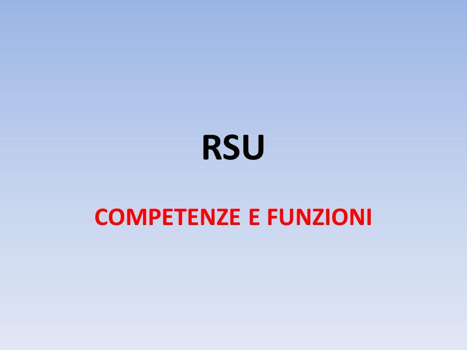 RSU COMPETENZE E FUNZIONI
