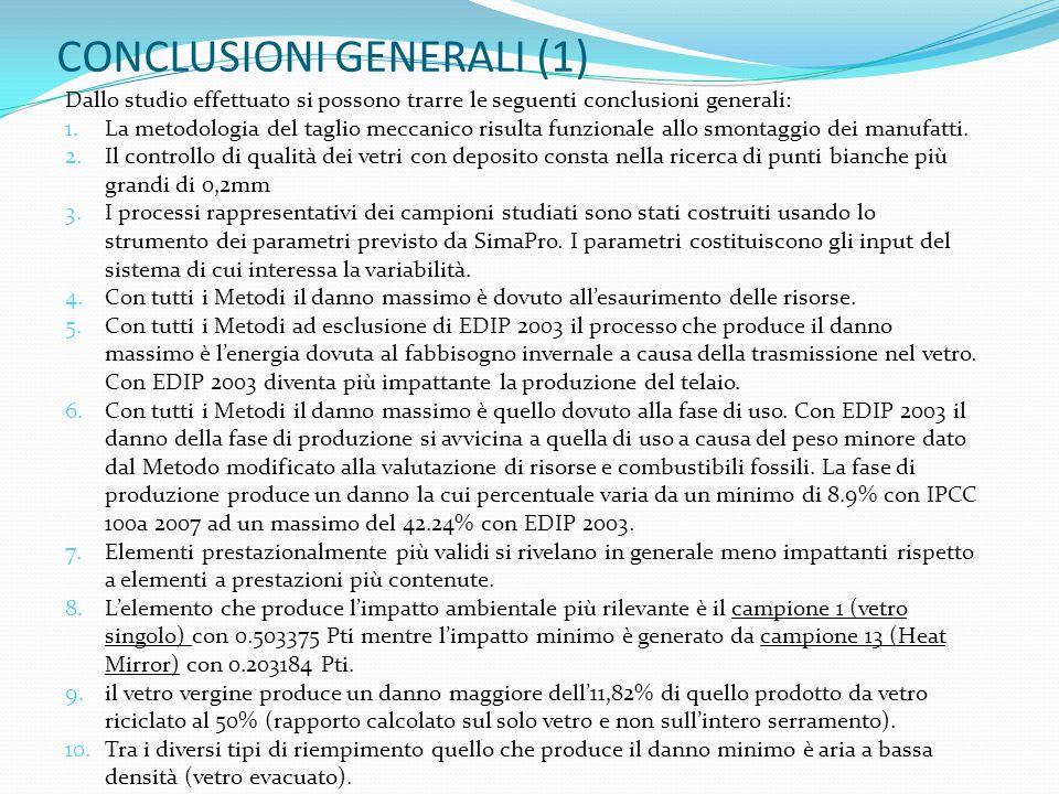 CONCLUSIONI GENERALI (1)
