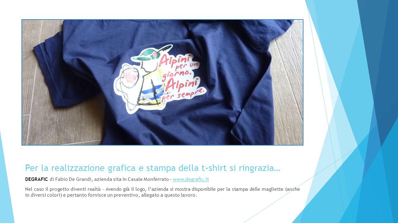 Per la realizzazione grafica e stampa della t-shirt si ringrazia…