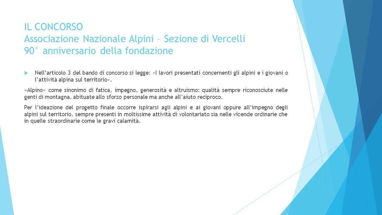 IL CONCORSO Associazione Nazionale Alpini – Sezione di Vercelli 90° anniversario della fondazione