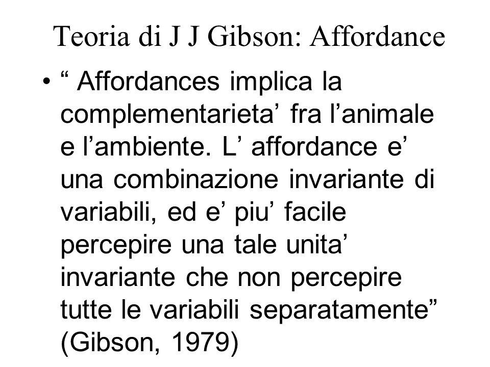 Teoria di J J Gibson: Affordance