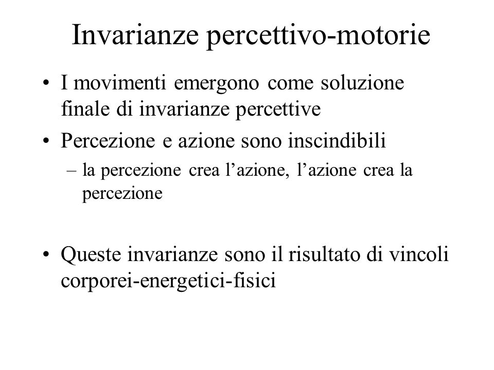 Invarianze percettivo-motorie