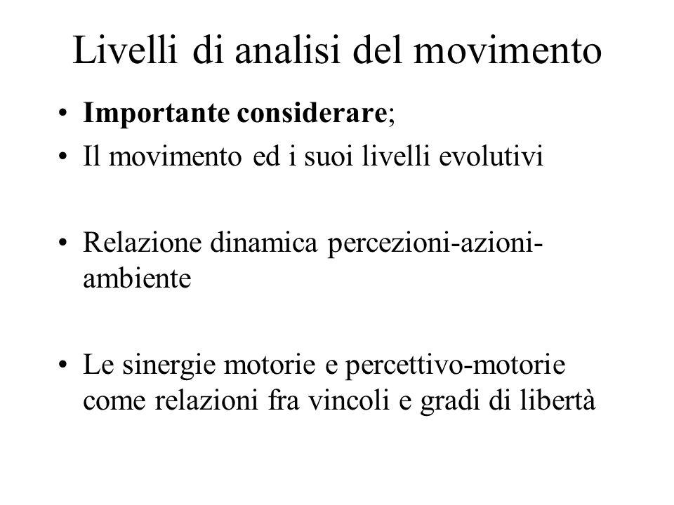 Livelli di analisi del movimento