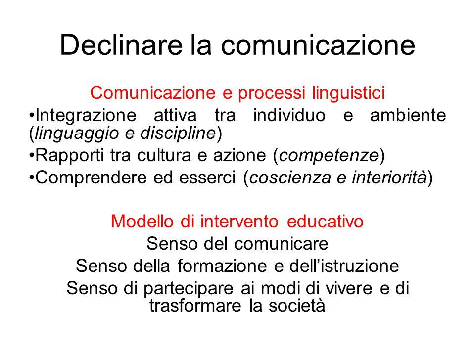 Declinare la comunicazione