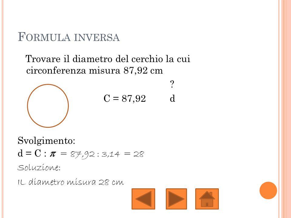 Formula inversa