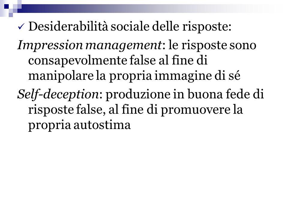 Desiderabilità sociale delle risposte: