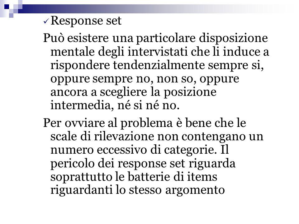Response set