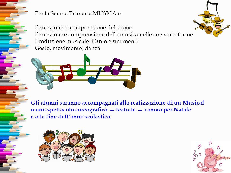 Per la Scuola Primaria MUSICA è:
