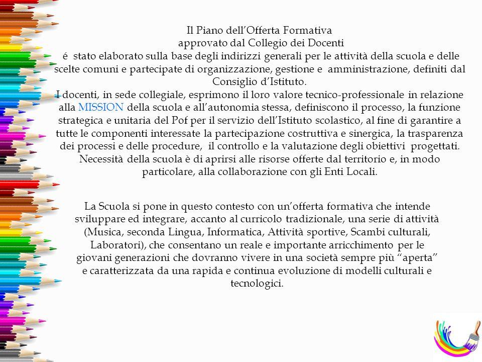 Il Piano dell'Offerta Formativa approvato dal Collegio dei Docenti