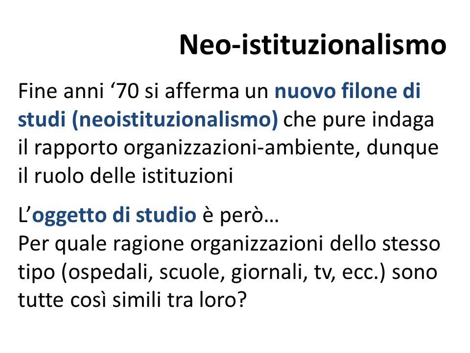 Neo-istituzionalismo
