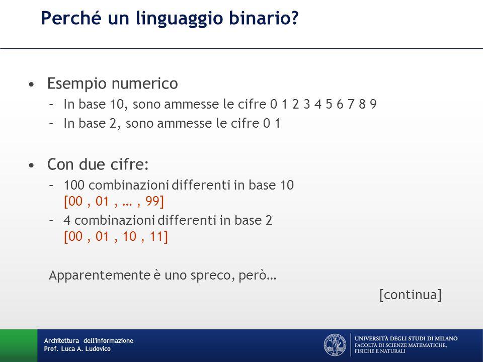 Perché un linguaggio binario