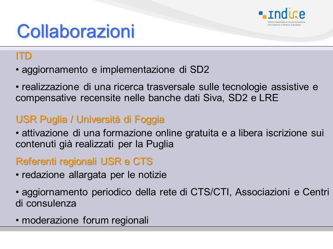 Collaborazioni ITD aggiornamento e implementazione di SD2