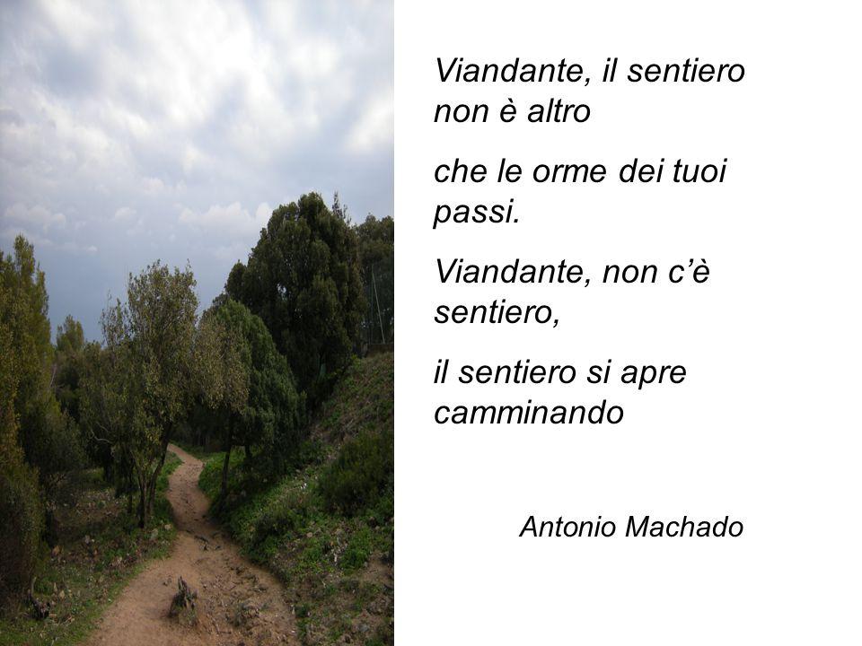 Viandante, il sentiero non è altro che le orme dei tuoi passi.