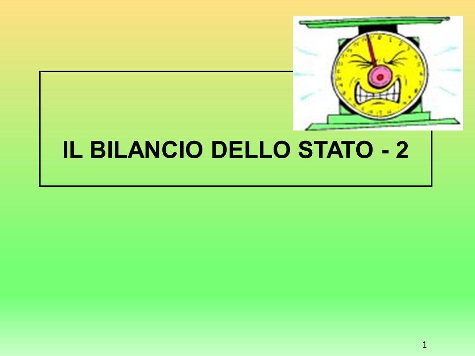 IL BILANCIO DELLO STATO - 2