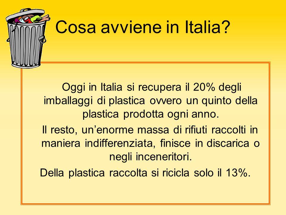 Della plastica raccolta si ricicla solo il 13%.