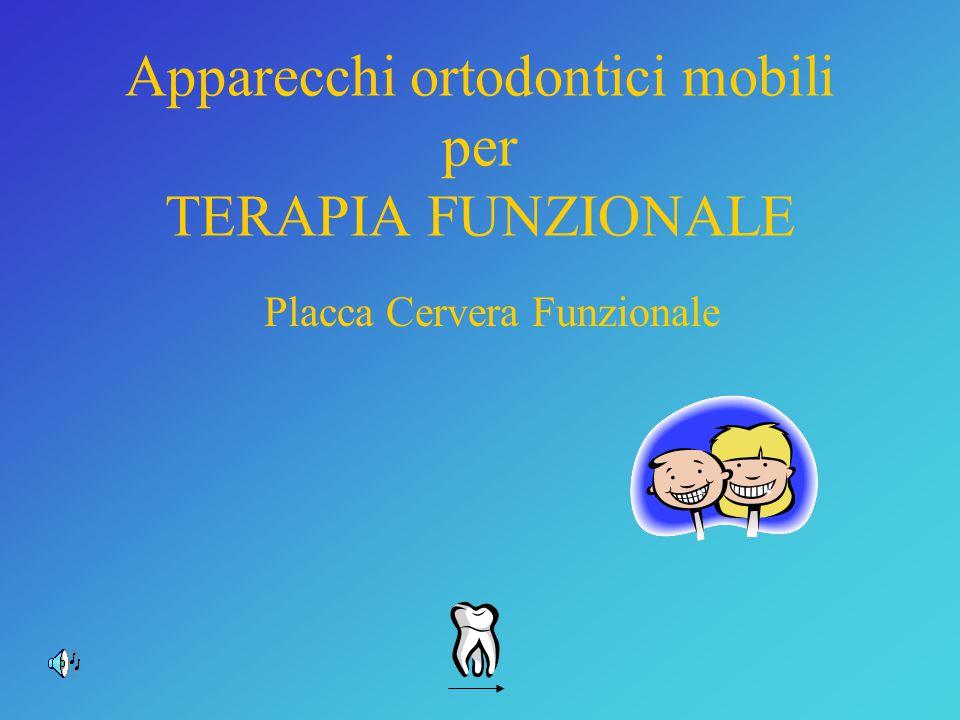 Apparecchi ortodontici mobili per TERAPIA FUNZIONALE