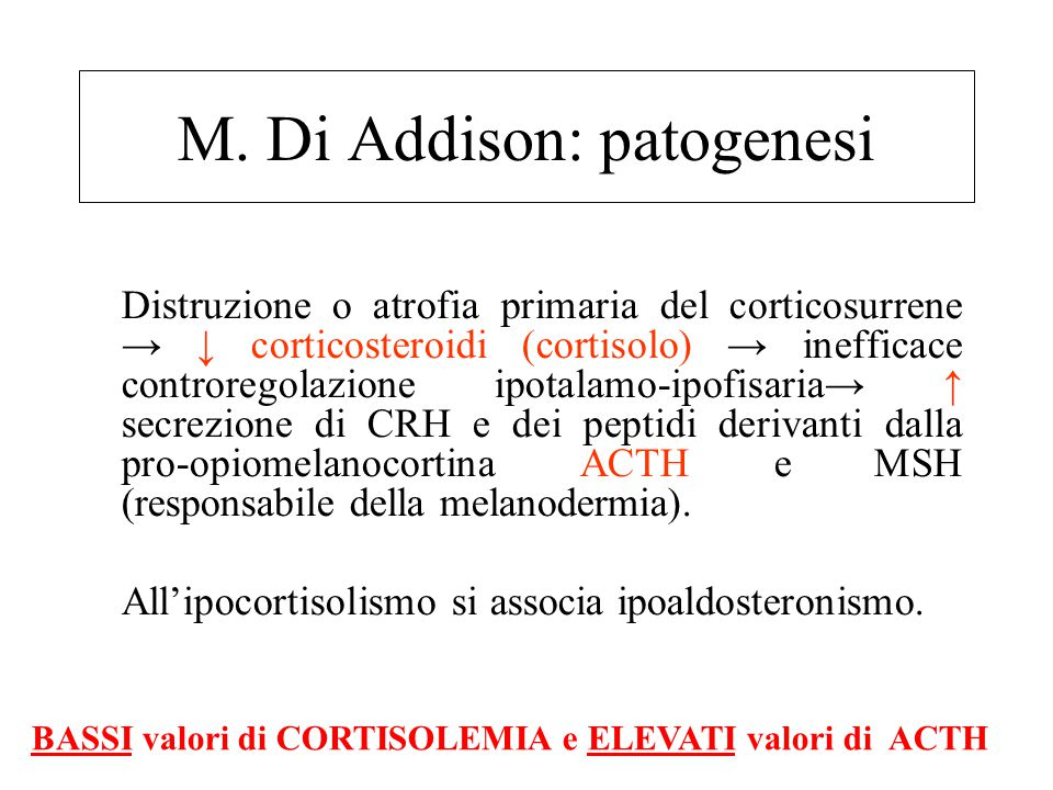 M. Di Addison: patogenesi