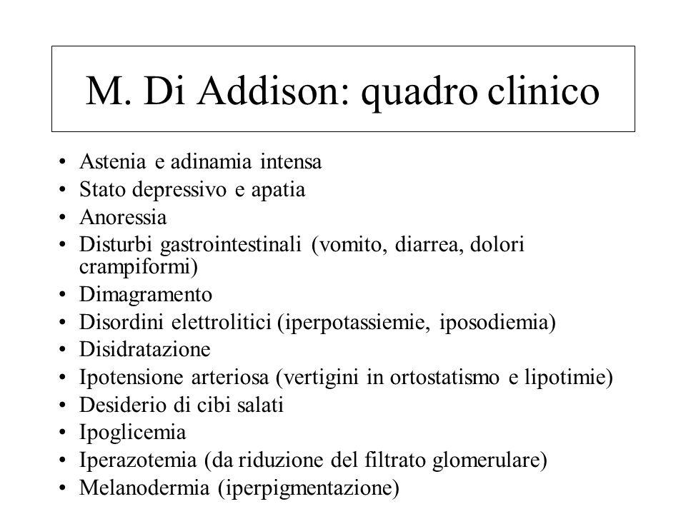 M. Di Addison: quadro clinico