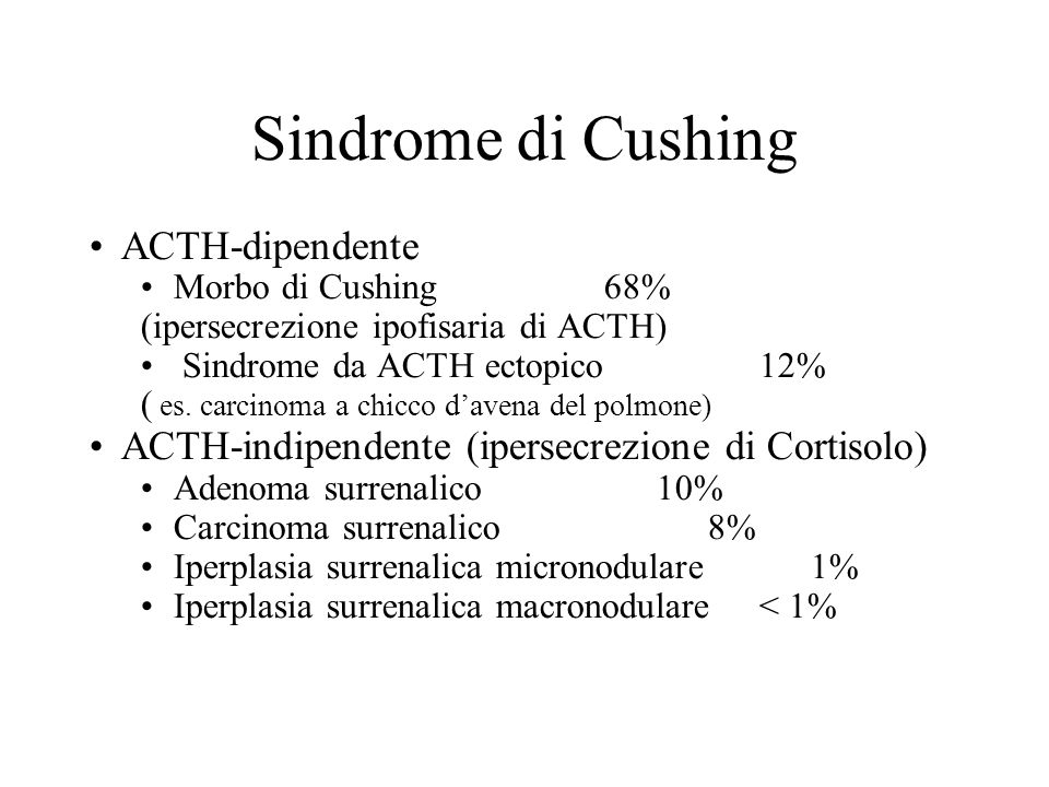 Sindrome di Cushing ACTH-dipendente