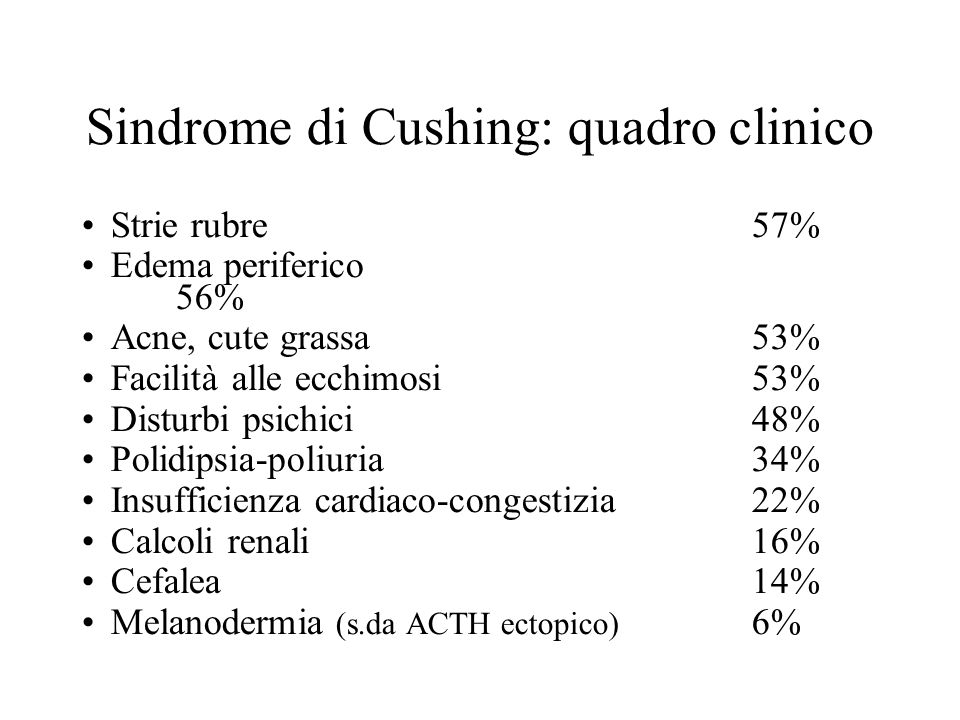 Sindrome di Cushing: quadro clinico
