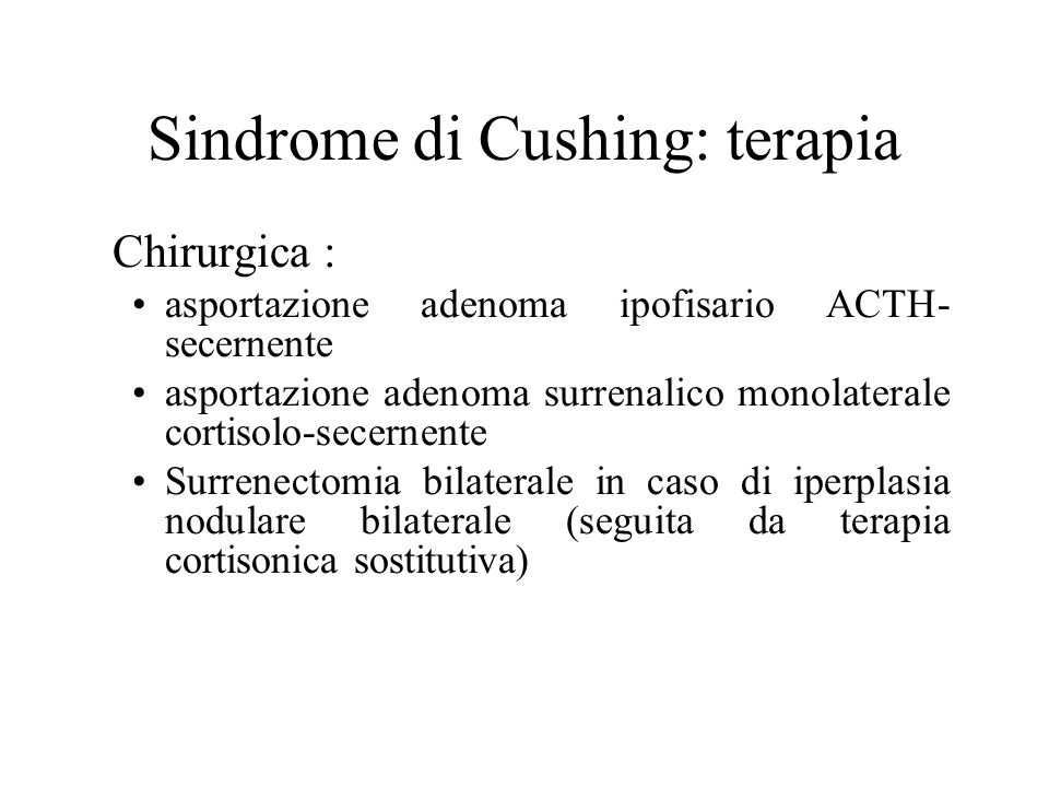 Sindrome di Cushing: terapia