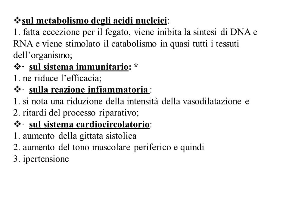 sul metabolismo degli acidi nucleici: