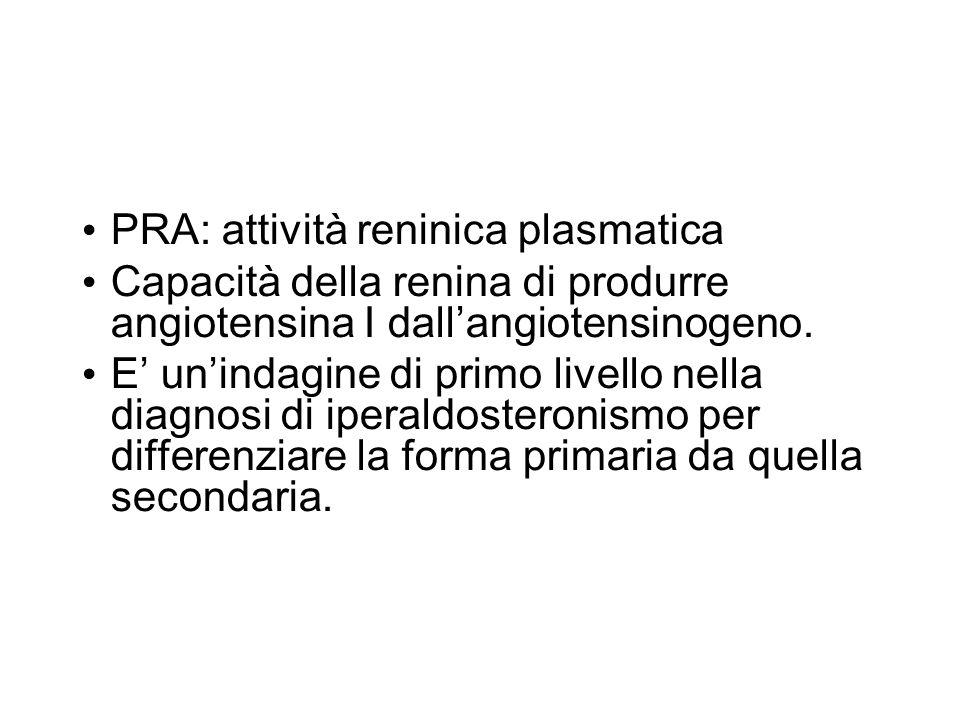 PRA: attività reninica plasmatica