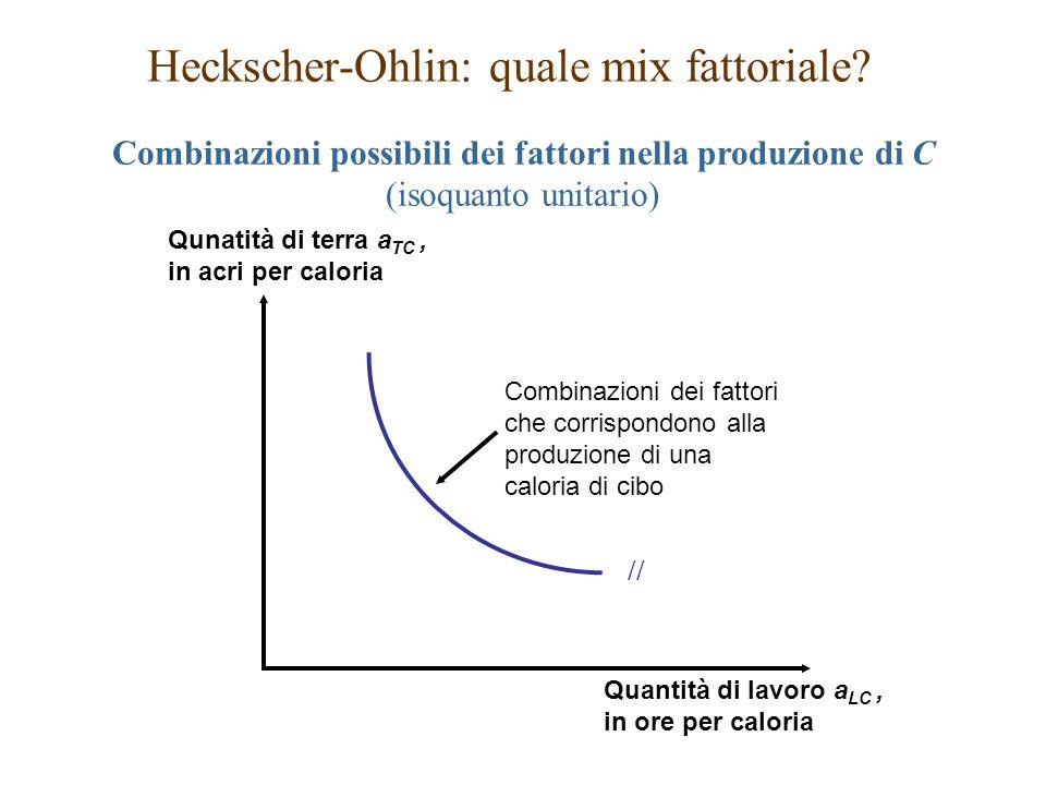 Heckscher-Ohlin: quale mix fattoriale