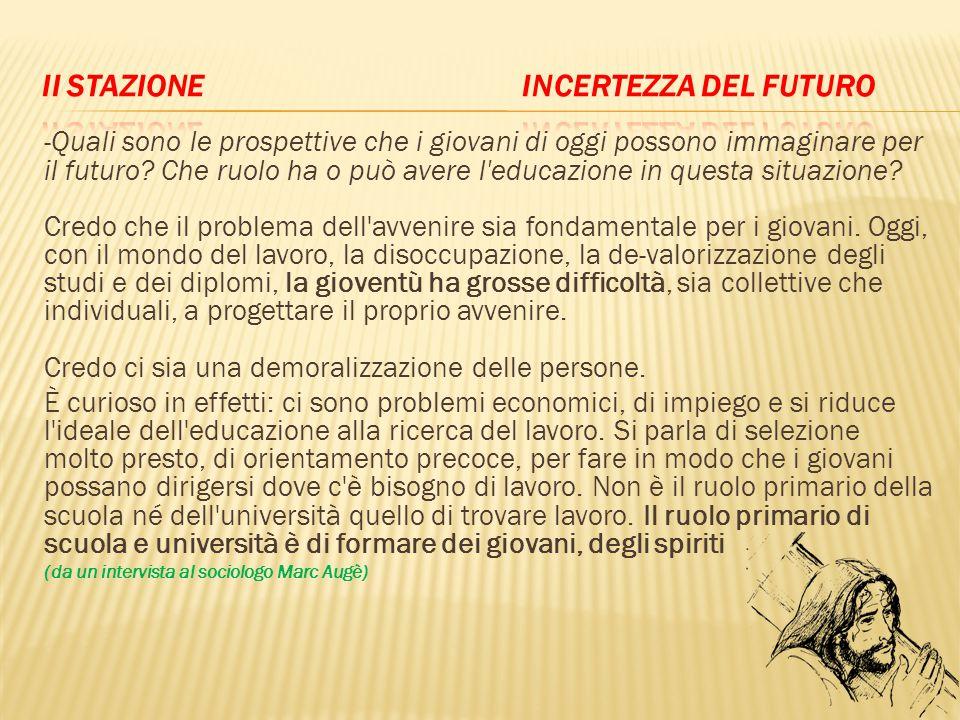 II Stazione incertezza del futuro