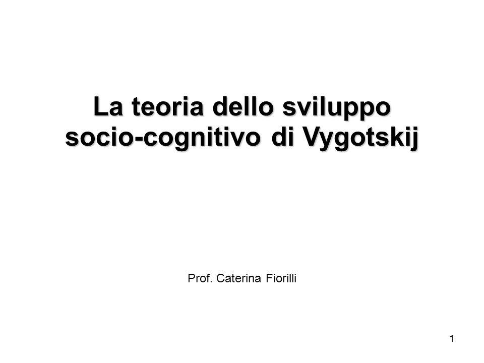 La teoria dello sviluppo socio-cognitivo di Vygotskij