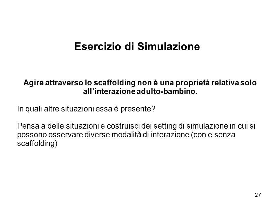 Esercizio di Simulazione