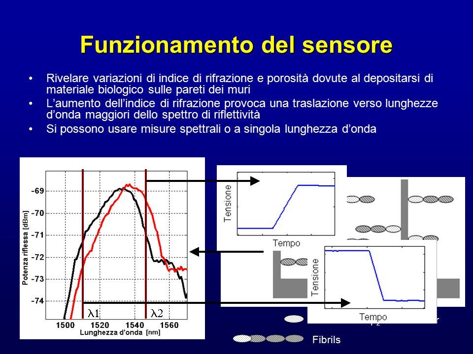 Funzionamento del sensore