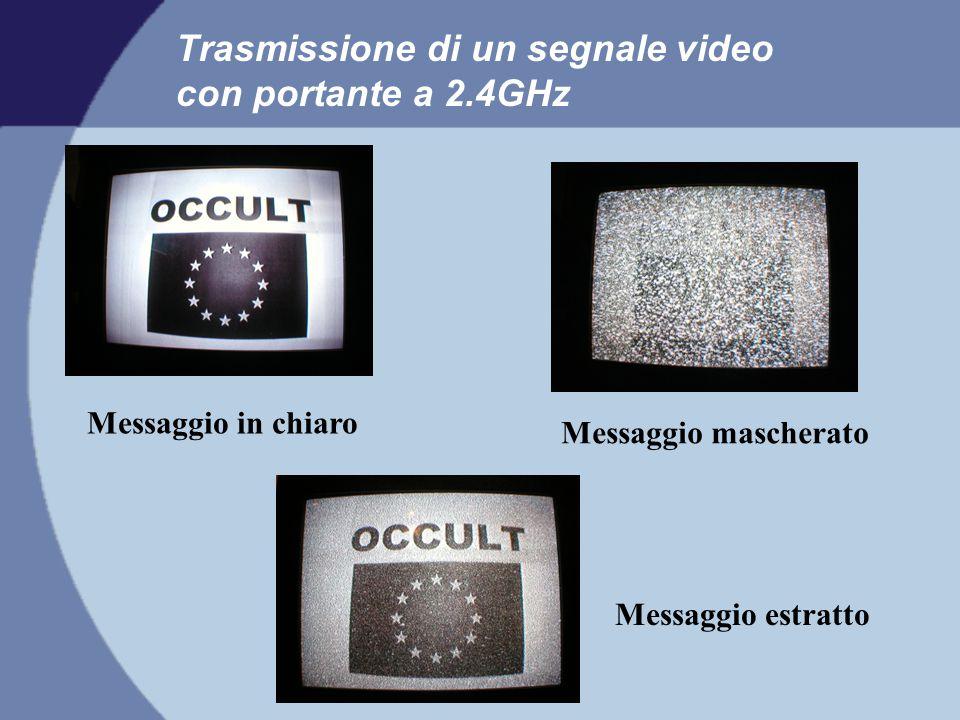 Trasmissione di un segnale video con portante a 2.4GHz