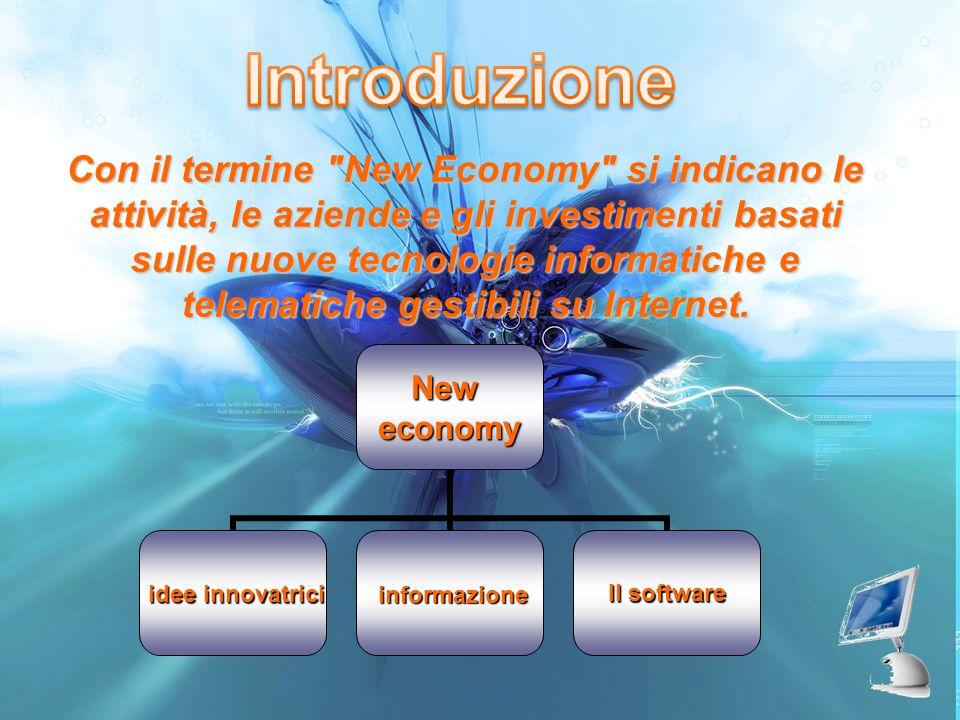 Introduzione Con il termine New Economy si indicano le attività, le aziende e gli investimenti basati.