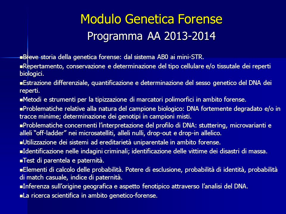 Modulo Genetica Forense
