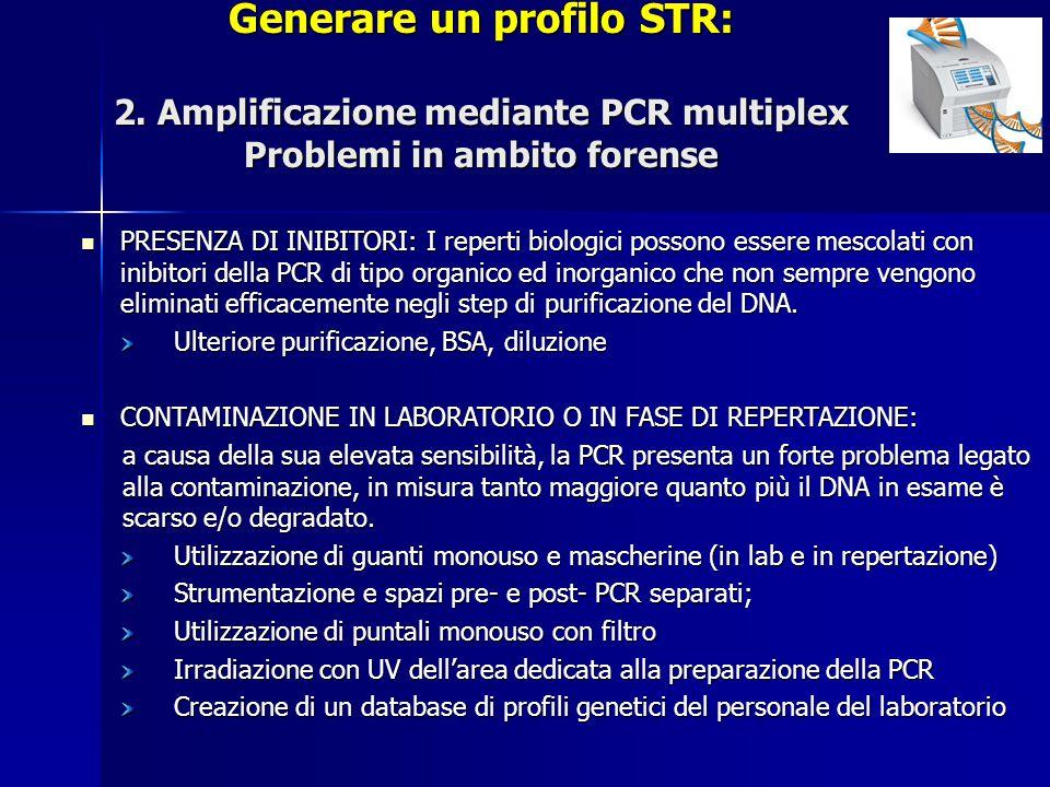 Generare un profilo STR: 2