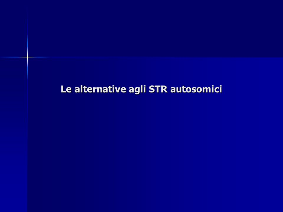 Le alternative agli STR autosomici